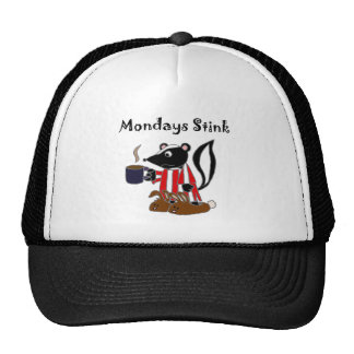 Funny Skunk Hates Mondays Trucker Hat