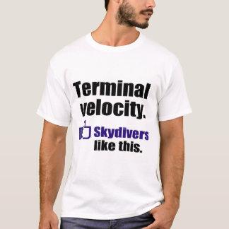 Funny skydiving shirt: Terminal Velocity T-Shirt