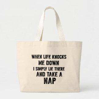 Funny Sleeping designs Large Tote Bag