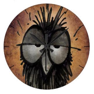 Funny Sleepy Owl Art for Owl Lover Wall Clocks