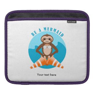 Funny Sloth Be a Mermaid iPad Sleeve