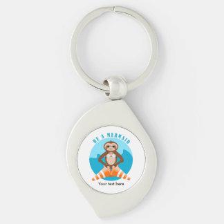 Funny Sloth Be a Mermaid Keychain