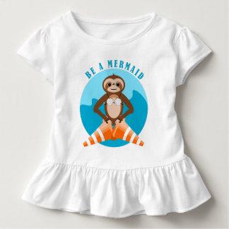 Funny Sloth Be a Mermaid Toddler T-shirt