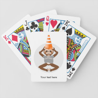 Funny Sloth Be A Unicorn Bicycle Playing Cards