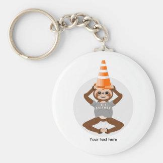 Funny Sloth Be A Unicorn Keychain