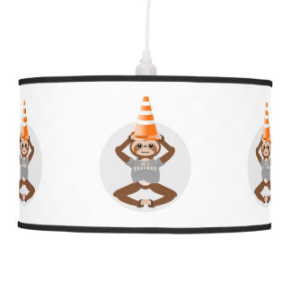 Funny Sloth Be A Unicorn Pendant Lamp