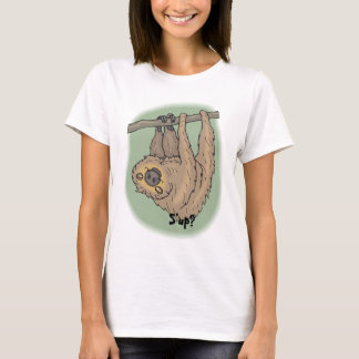 Funny Sloth Hanging Upside Down In Tree T-Shirt
