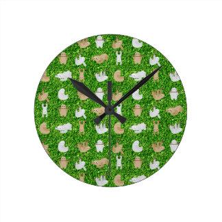 funny sloths round clock