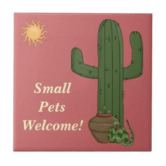 Funny Small Pets Welcome Rattlesnake Snake Lover Tile