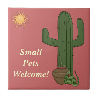 Funny Small Pets Welcome Rattlesnake Snake Lover Tiles