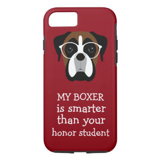 Funny Smart Boxer Dog iPhone 8/7 Case