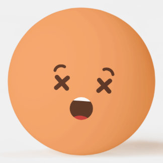 Funny Smiley Face. Emoji. Emoticon. Don't Hit Me! Ping Pong Ball