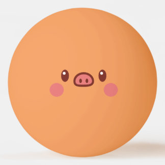 Funny Smiley Face. Emoji. Emoticon. Mr Porky! Ping Pong Ball
