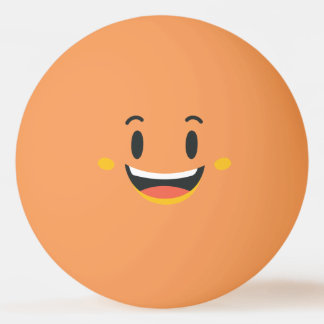 Funny Smiley Face. Emoji. Emoticon. Ping Pong Ball