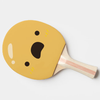 Funny Smiley Face. Emoji. Emoticon. Ping-Pong Paddle