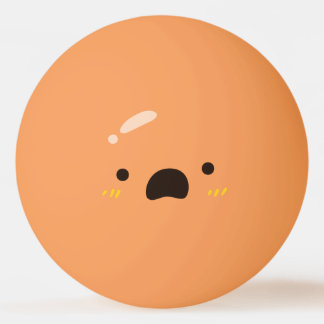Funny Smiley Face. Emoji Emoticon. Worried Smiley. Ping Pong Ball
