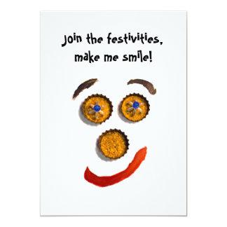 """Funny Smiley Face Invitation 5"""" X 7"""" Invitation Card"""