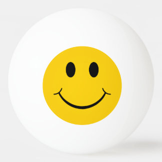 Funny Smiley Face Ping Pong Ball