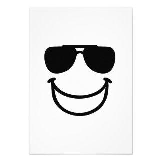 Funny smiley sunglasses custom invites