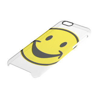 Funny Smiley yellow + your backg. & ideas Clear iPhone 6/6S Case