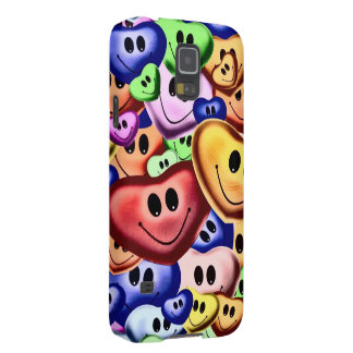 Funny smiling hearts A Galaxy S5 Case