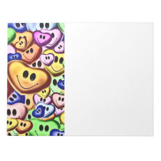 Funny smiling hearts A Notepad