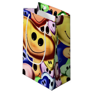 Funny smiling hearts A Small Gift Bag