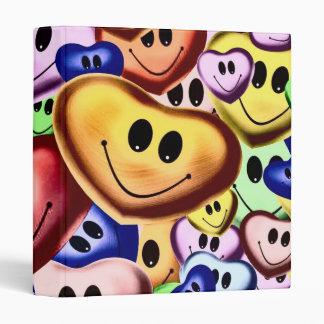 Funny smiling hearts A Vinyl Binder