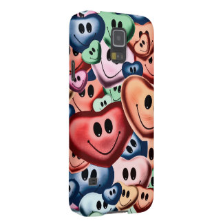 Funny smiling hearts B Galaxy S5 Case