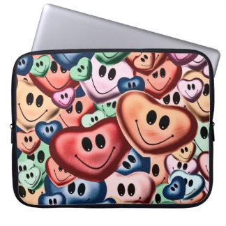 Funny smiling hearts B Laptop Sleeve