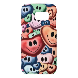 Funny smiling hearts B Samsung Galaxy S7 Case