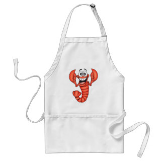 Funny Smiling Lobster Aprons
