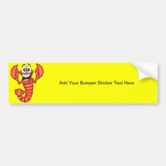 Funny Smiling Lobster Bumper Sticker
