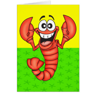 Funny Smiling Lobster Card