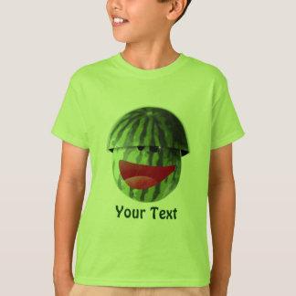 Funny Smiling Watermelon Kids Picnic T-shirt