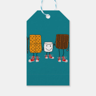 Funny Smores Characters Cartoon Gift Tags
