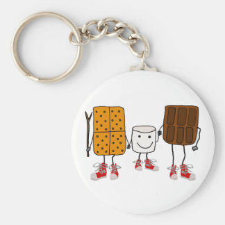 Funny Smores Characters Cartoon Keychain