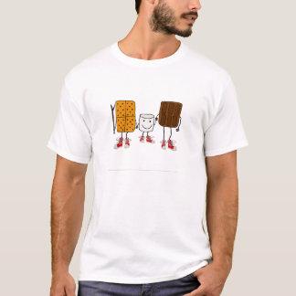 Funny Smores Characters Cartoon T-Shirt