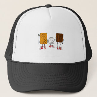 Funny Smores Characters Cartoon Trucker Hat