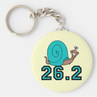 Funny snail marathon basic round button keychain