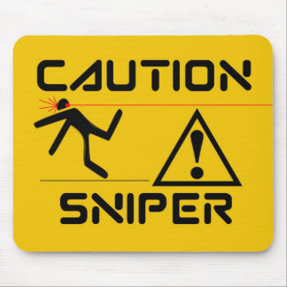 Funny Sniper Mouse Pad
