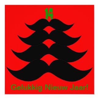 "Funny Snor Christmas tree Christmas card 5.25"" Square Invitation Card"