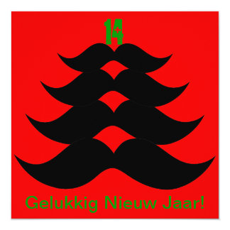 "Funny Snor Christmas tree Christmas card 5.25"" Square Invitation Card"