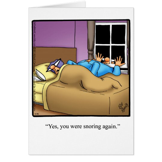 Funny Snoring Humour Anniversary Card