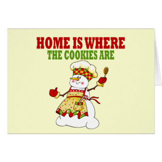 Funny Snow Lady Cookie Chef Card
