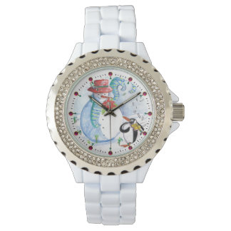 FUNNY SNOWMAN AND PENGUIN'S WINTER SERENADE WATCH