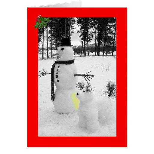 Funny snowman Christmas Cards