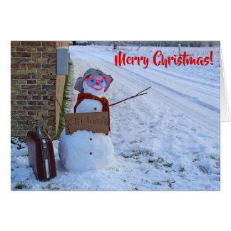 Funny Snowman Christmas Card! Card