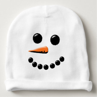Funny Snowman Face Holiday Baby Hat Baby Beanie