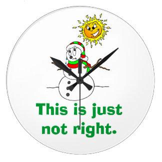 Funny Snowman Humor Just Not Right Wallclock